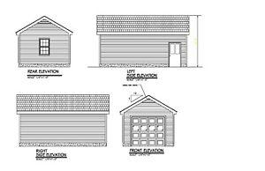 14x24 gable roof garage plan roof 1 car garage blueprint plan 17 image is loading 14 039 x24 039 gable roof garage plan malvernweather Image collections