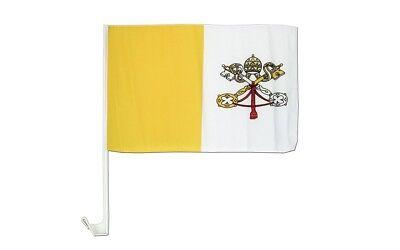 (confezione Da 2) Città Del Vaticano Paese Finestrino Automobile Veicolo 12x18 Prima Qualità