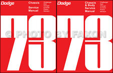 1973 Dodge Shop Manual Set 73 Challenger Charger Coronet Dart Polara Monaco