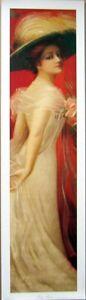 art-print-MARY-ANNA-hat-roses-dress-tall-Victorian-lady-vtg-repr-yardlong-10x36