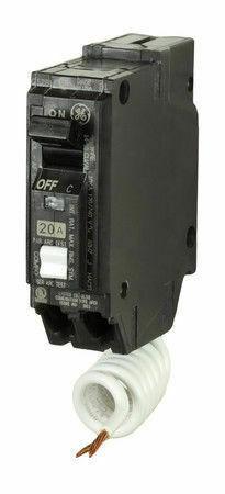 GE THQL1120AF2 20A 120//240V 1P AFCI Combo Plug-In Circuit Breaker