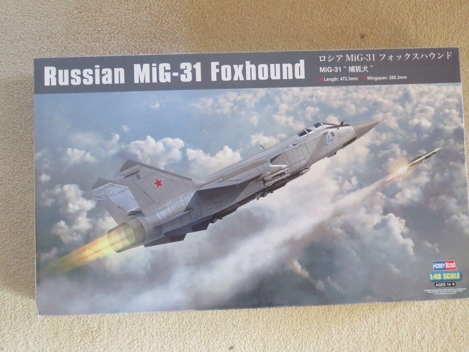 HobbyBoss 1 48 scale Russian Mig-31 Foxhound