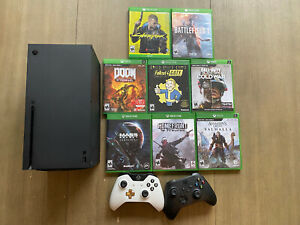 Microsoft Xbox Series X 1TB Video Game Console - Black With Games And Controller