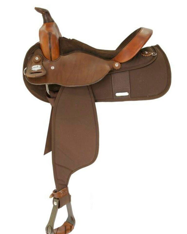 "Fabtron Cordura 16"" Pleasure Saddle Brown Square Skirt SEMI-QH BARS  7108  NEW"