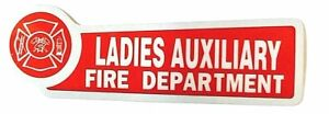 LADIES-AUXILIARY-FIRE-DEPARTMENT-Red-and-Silver-decal