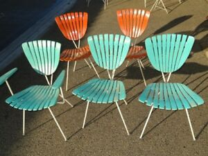 Image Is Loading Rare Arthur Umanoff 5 Chairs 1950s 1960s Mid