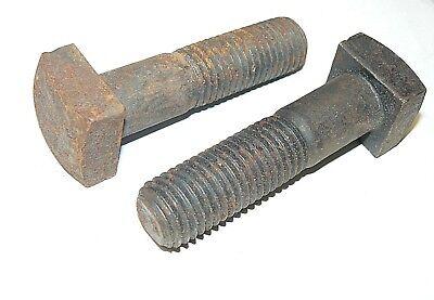 10 pcs 1-8 X 10 Square Head Machine Bolts Plain Steel