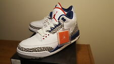 "(MA4) ""True Blue"" Men's Air Jordan 3 Retro OG US Size 9 Sneakers 854262-106"