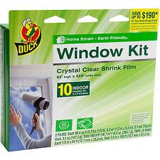 "Plastic Shrink Film Indoor Window Kit 62"" x420"" Heat Insulation Draft Clear Wrap"