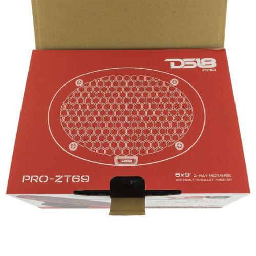 "DS18 PRO-ZT69 6x9/"" 2 Way Speaker 550W Max 4-ohm Pro Car Audio Full Mid Range"