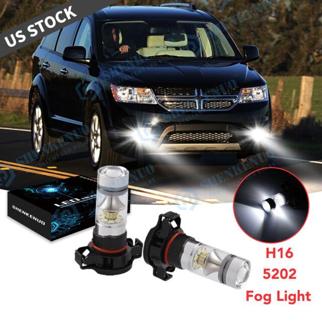 LED Headlight Kit 5202 6000K White Fog Lights Bulbs for DODGE Journey 2010-2018