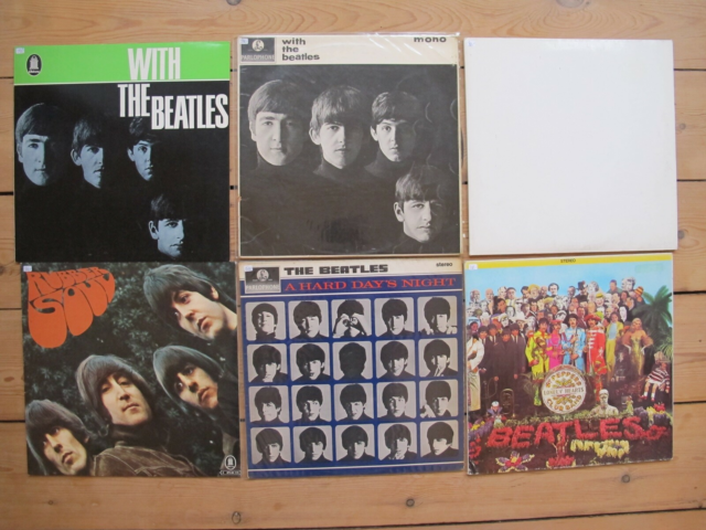 LP, the beatles , FRA 100-350,-/stk, Rock, with the beatles…