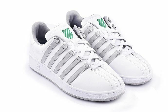 K-Swiss Mens Classic Trainers White Green Size  (03343-827-m)