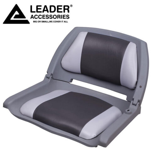 Leader Accessories New Marine Folding Boat Seat Gray//Charcoal