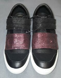 Details about Skecher Street Womens Los Angeles Rise Fit Shoes Size 7.5 Glitter Black Pink
