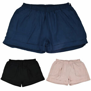 Damen-Bermuda-Shorts-Strandhose-Sommerbekleidung-laessige-Hose-Urlaub-Oko-Tex