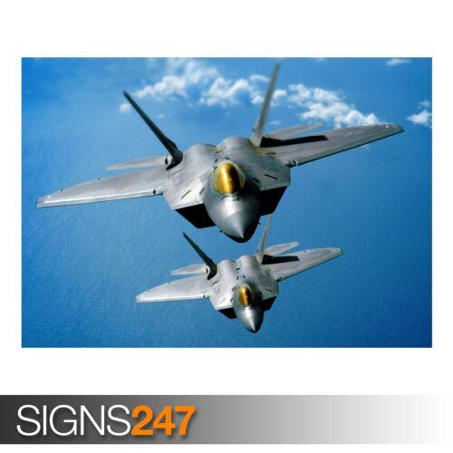 Ejército Poster-FOTOS arte cartel impresión A0 A1 A2 A3 A4 F-22 Raptors AC179