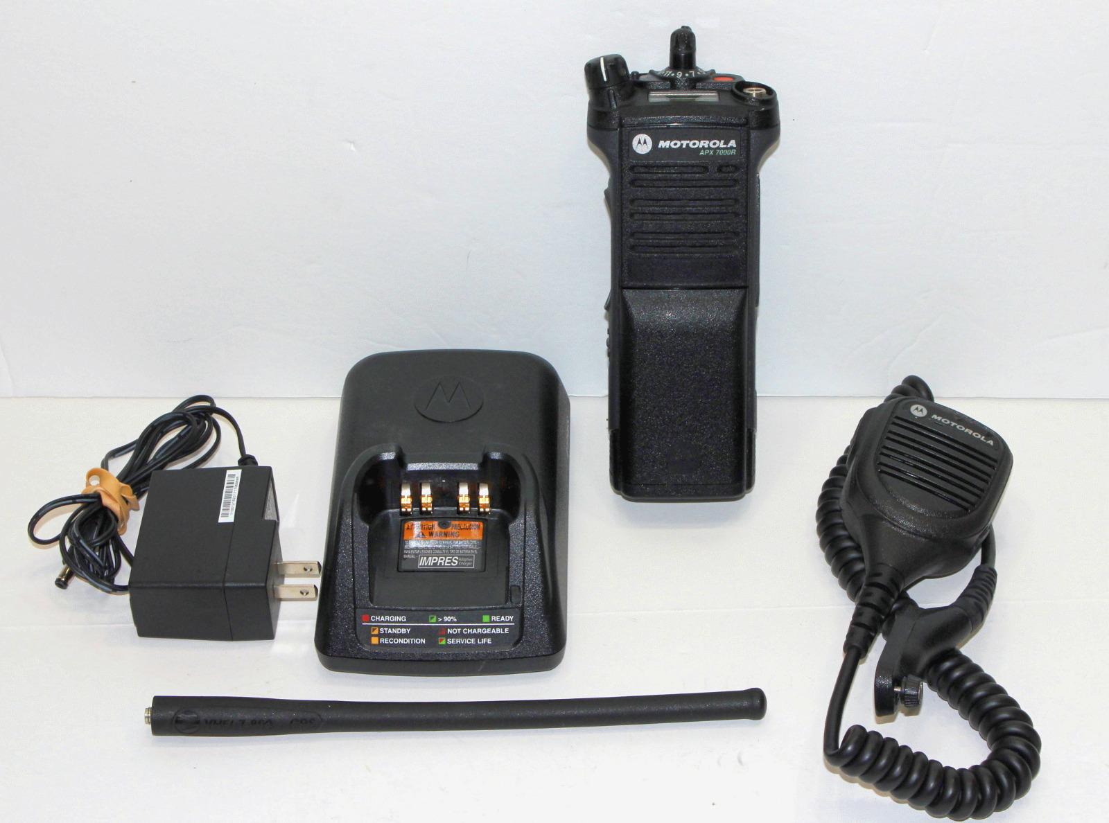 Seller refurbished TESTED MOTOROLA APX7000 APX 700/800 UHF 450-520 MHZ DIGITAL RADIO P25 TDMA AES .