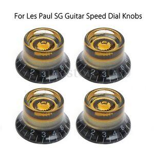 4pcs custom lp black gold guitar speed dial knobs control knobs for les paul sg ebay. Black Bedroom Furniture Sets. Home Design Ideas