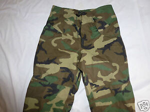 1ace59b0addd2 GI Woodland Pants Gore Tex Extended Cold Wet Weather Camo X-Small ...