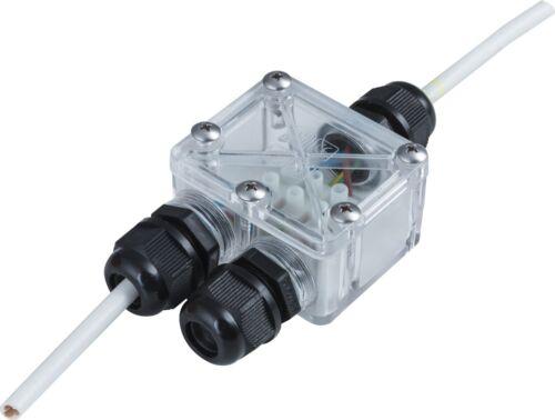 Kabelverbinder 2fach IP67 für Aussen 3er Pack Einbau Halogen Leuchte .#6274