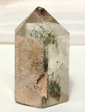 Rainbow Quartz & Garden Lodalite Standing Stone Single Point Reiki Blessed
