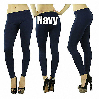 Women's Sexy Seamless Opaque Essential Long Ankle Length Leggings Tights Pants
