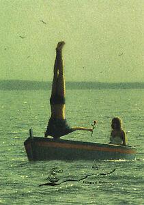 Kunstkarte Postcard Quint Buchholz Paar im Boot