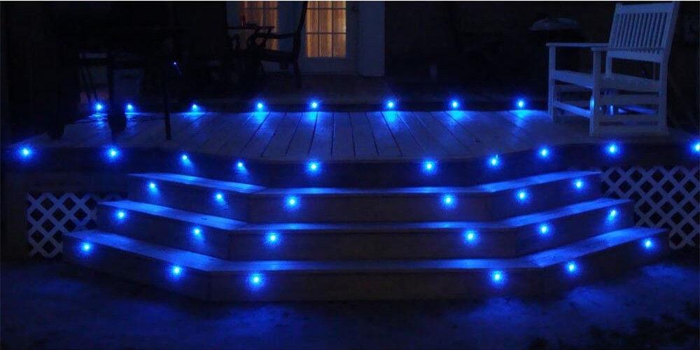 10x 19mm WIFI Controller LED LED LED Boden Einbaustrahler  Außen Treppe Küche Lampe Blau | Billiger als der Preis  | Modern  | Überlegene Qualität  316bab
