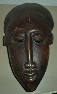 Ancien Masque Africain En Bois 30 Cm