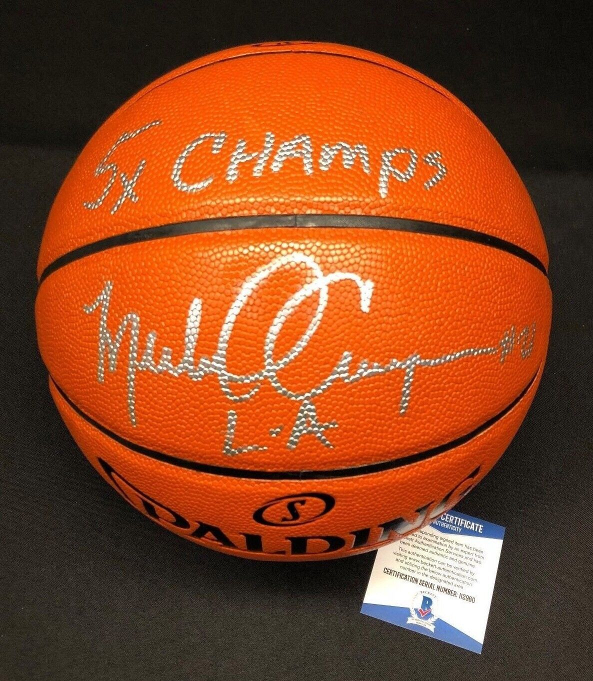 Michael Cooper Signed Spalding Game Ball Series Basketball