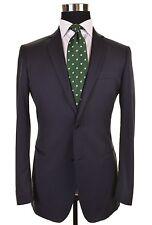 John Varvatos Made in ITALY Navy Pinstripe Wool 2pc Suit Jacket Pants 48 38 R