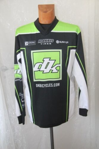 Original jersey velo mtb dk bicycle maxxis sunringlé black white green s new