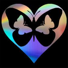 2pcs Butterfly Heart Motorcycle Car Stickers Auto Vinyl Wall Window Door Decal