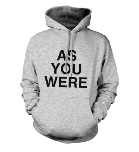 As You Were Liam Gallagher Oasis Unisex Hoodie All Sizes