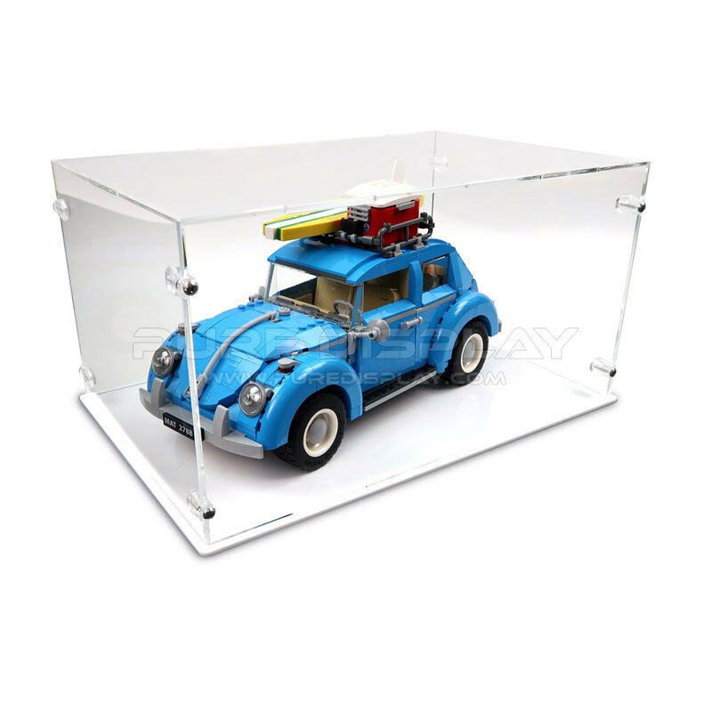 Acrylic Perspex Model Display Case For LEGO 10252 VW Beetle