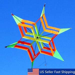 3D-Rainbow-Flower-Delta-Fly-Kite-Single-Line-Outdoor-Fun-Sport-for-Kids-Toy