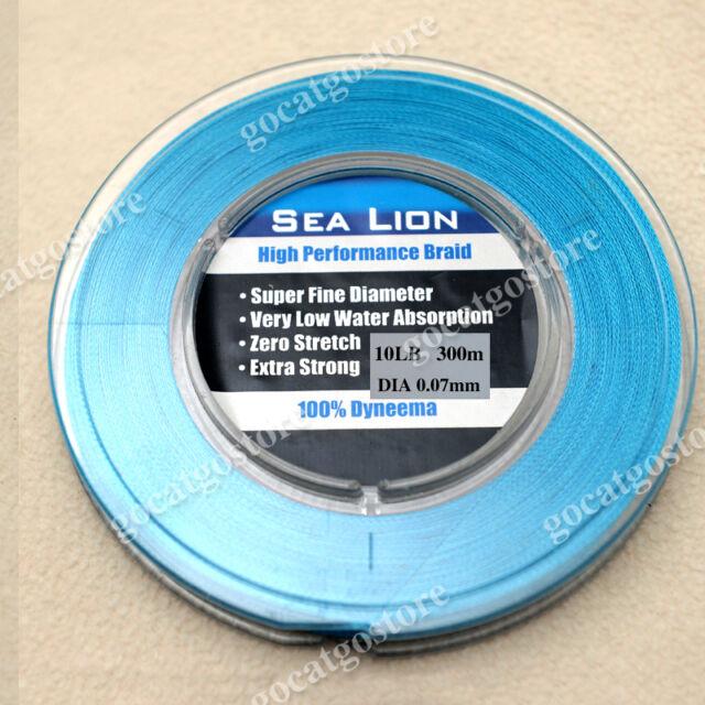 NEW Sea Lion 100/% Dyneema Spectra Braid Fishing Line 300M 10lb White