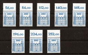 1-x-Bund-1142-OR-Burgen-und-Schloesser-postfrisch-2-80-DM-Oberrand-BuS-BRD-1982