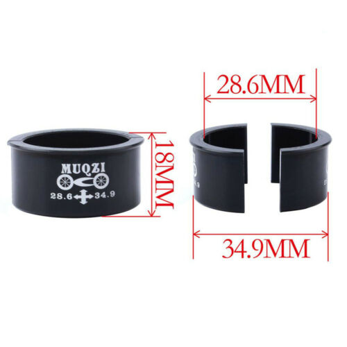 MTB Road Bike Front Derailleur Clamp Convert Shim Adapter 34.9mm to 28.6mm