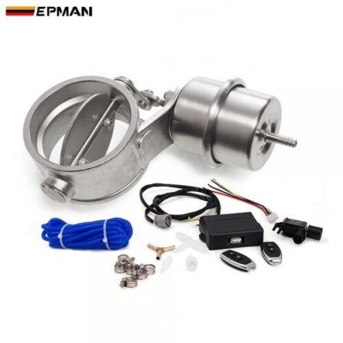 """EPMAN Exhaust Control Valve Set W// Vacuum Actuator Cutout 2.4/"""" 63mm Close Style"""