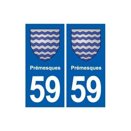 59 Prémesques blason autocollant plaque stickers ville arrondis