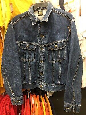 Vintage 70/'s Dark Wash Jean Jacket Sz M