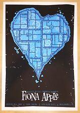 2005 Fiona Apple - Philadelphia Silkscreen Concert Poster by Todd Slater
