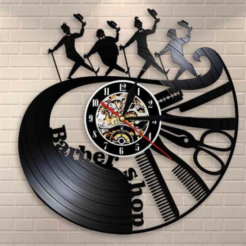 Barber Shop Wall Clock Modern Decoration Vinyl Record Wall Clock XUAN