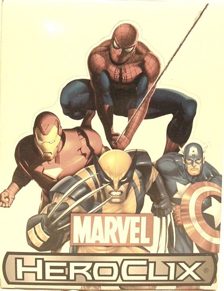 Heroclix sellada caja de presentación  10th aniversario Marvel  24 CT Booster Box ladrillo