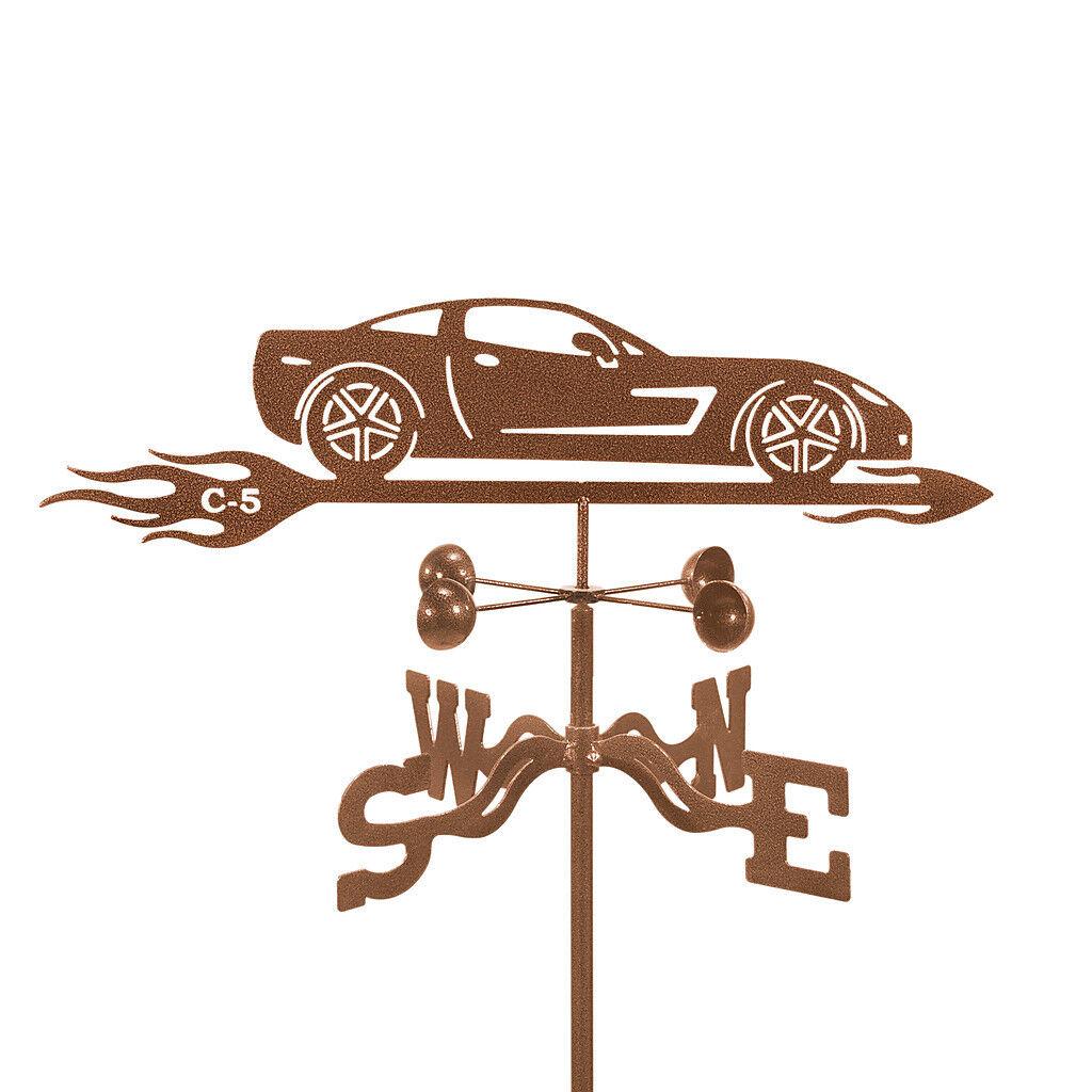 Chevy Corvette C5 Weathervane - Chevrolet Car - 'Vette Vane with Choice of Mount
