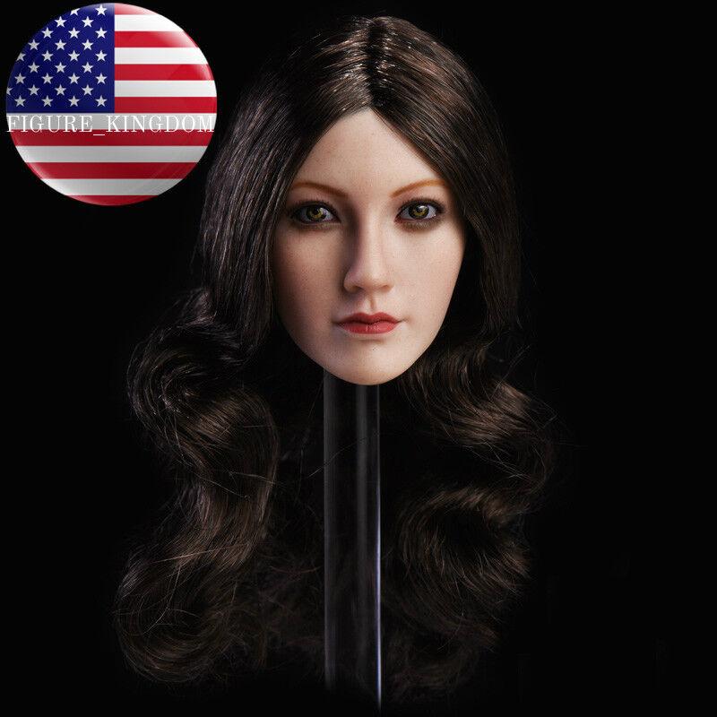 1 6 Female Head Sculpt Long Hair For 12  TBLeague PHICEN Hot Toys Female Figure