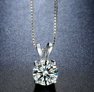 2-00-CT-Solitaire-Classic-Necklace-in-18-034-with-Swarovski-Crystal-14K-White-Gold