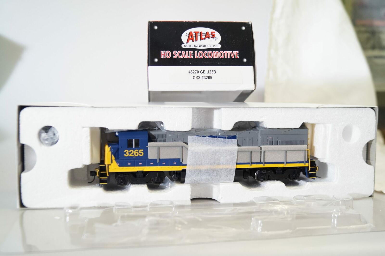 H0   Atlas 8270 Locomotora Diesel de Ee.uu. Ge U23B Csx  3265 ,Nuevo Embalaje